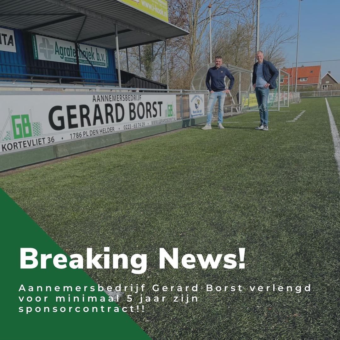 BREAKING NEWS! Hoofdsponsor Gerard Borst verlengd contact met 5 jaar